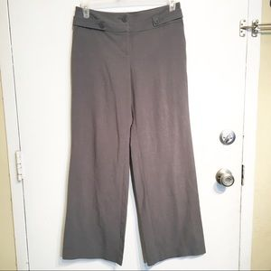 Ann Taylor LOFT Grey Wide Leg Dress Slack Pants